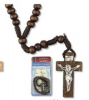 """How to Pray the Rosary"" Gift Set in Spanish ( Dark Brown)"