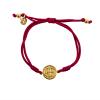 "Gold St. Benedict ""Serenity"" Bracelet (Merlot)"